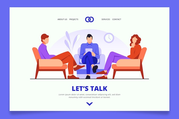 Marriage counseling homepage style Free Vector