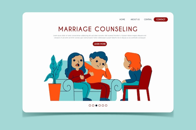 Marriage counseling landing page Free Vector