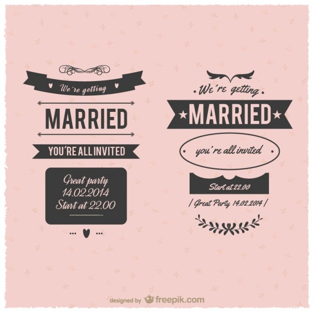 Marriage vintage labels vector free download marriage vintage labels free vector stopboris Choice Image
