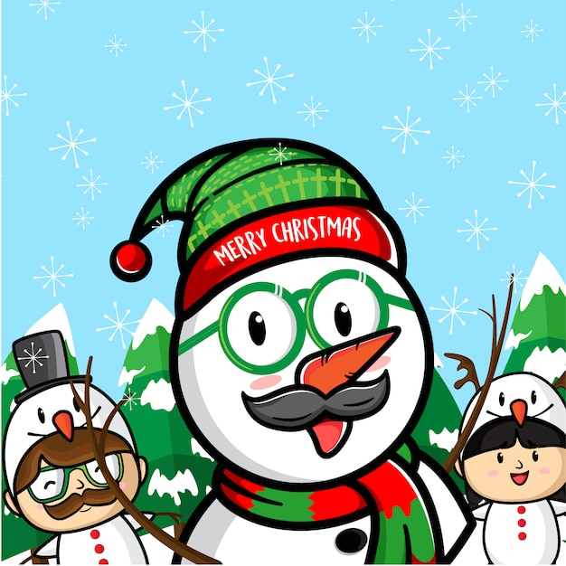 Marry chrismas Premium Vector
