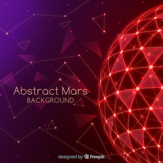 Mars background with abstract design Free Vector