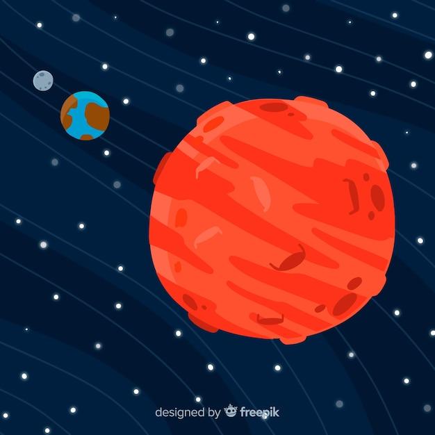 Mars background Free Vector