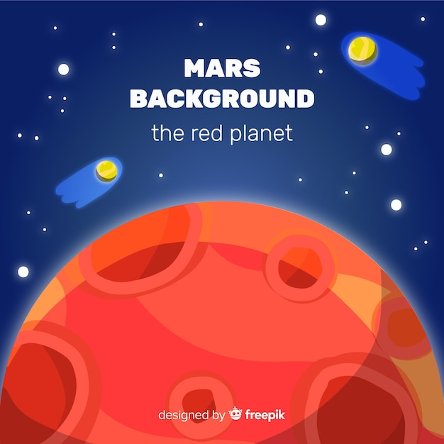 Mars background Free Vector