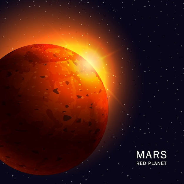 Mars red planet Vector | Premium Download