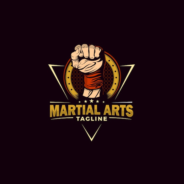 Martial arts illustration Premium Vector