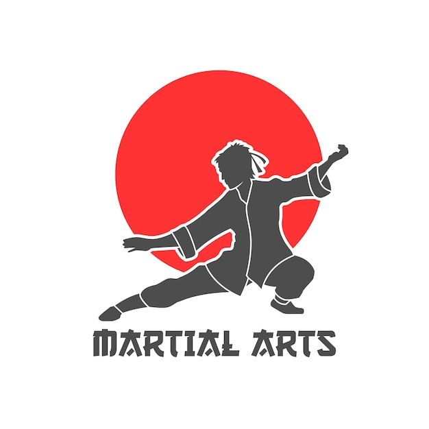 Martial arts logo illustration Free Vector