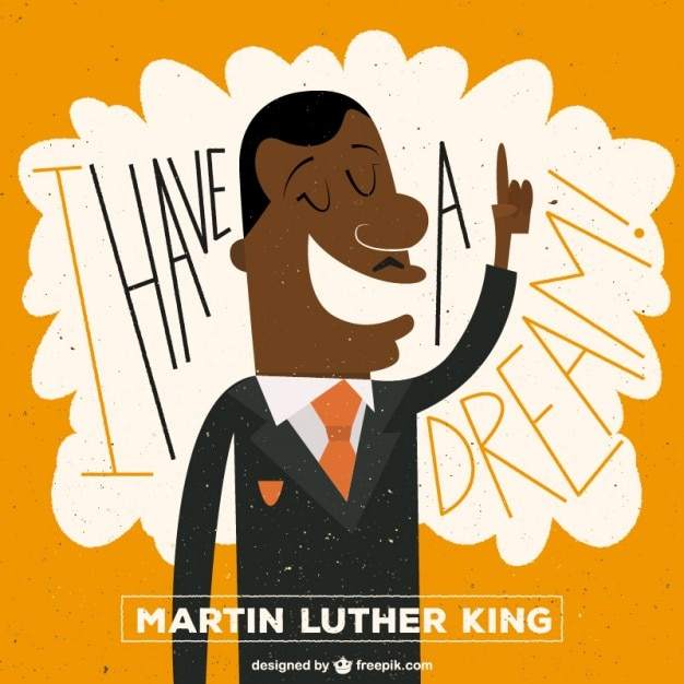 Martin Luther King illustration Free Vector