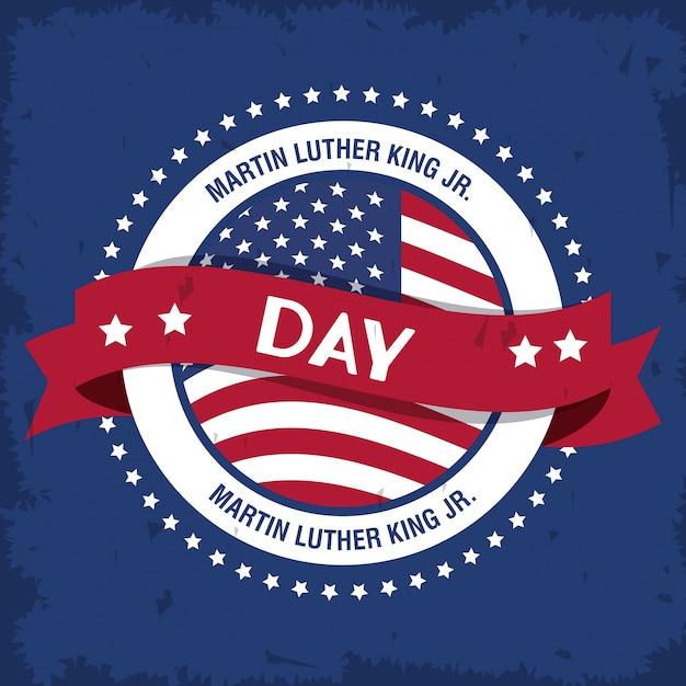 Martin luther king jr day icon Premiumベクター