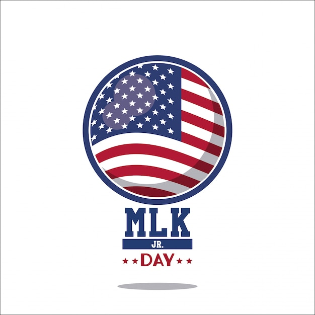 Martin luther king jr day icon Premiumベクター