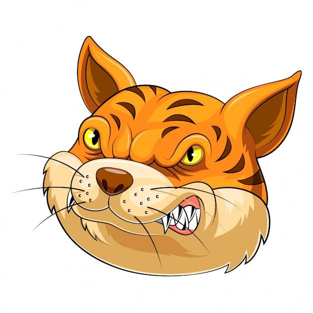 Mascot head of an cat Premium Vector