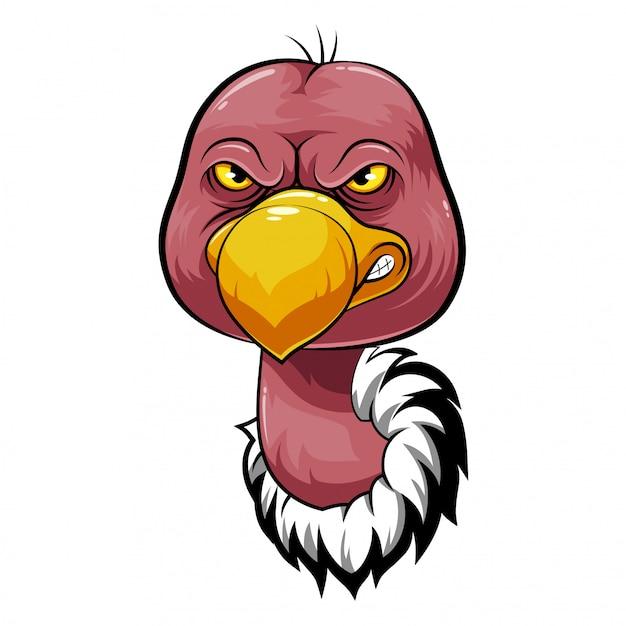Mascot head of an vulture Premium Vector