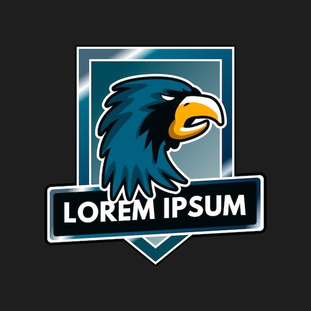 Mascot logo design with eagle Premium Vector