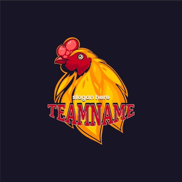 Mascot logo template theme Free Vector