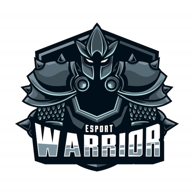 Mascot logo warrior esport Vector   Premium Download