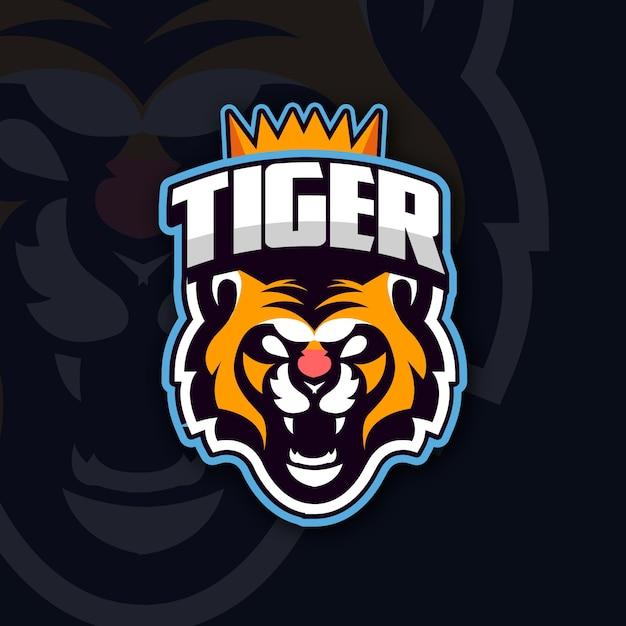 Mascot logo with tiger Free Vector
