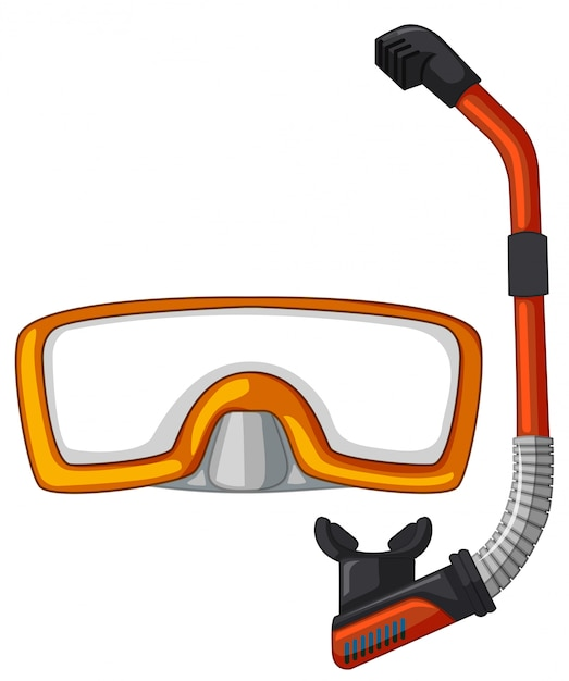Mask and snorkel for diving Free Vector