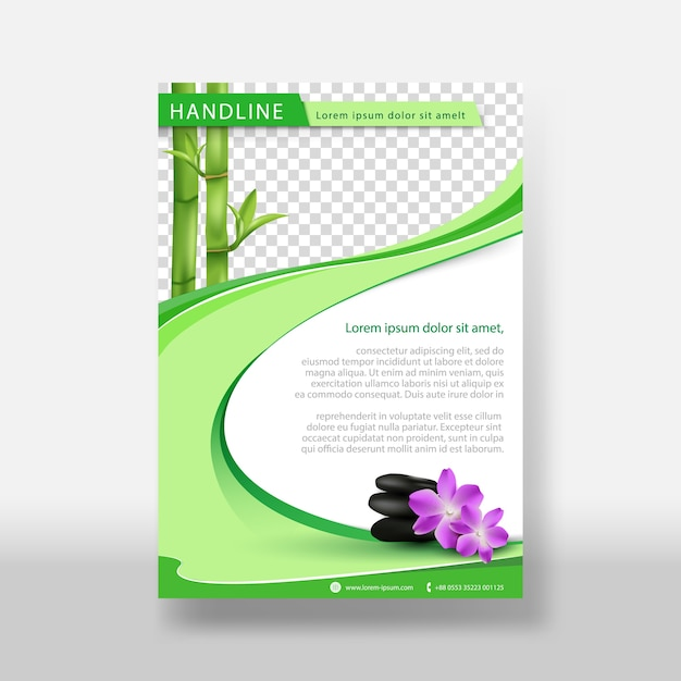 Massage or natural flyer & poster cover template Premium Vector