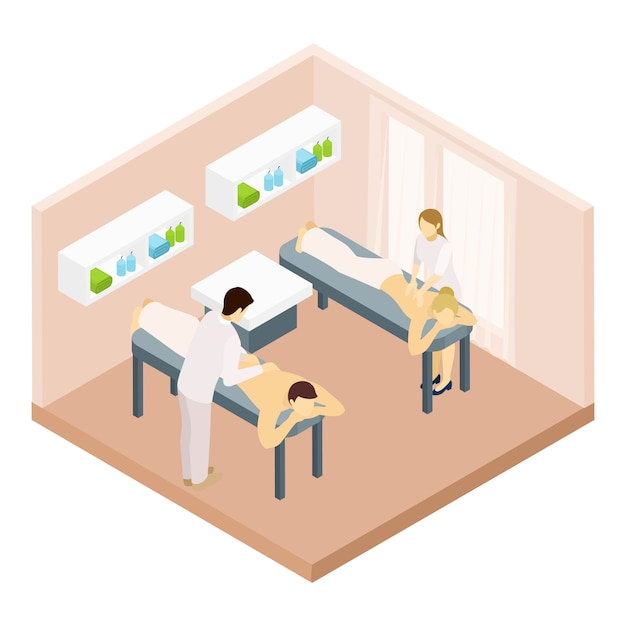 Massage Room Isometric Illustration