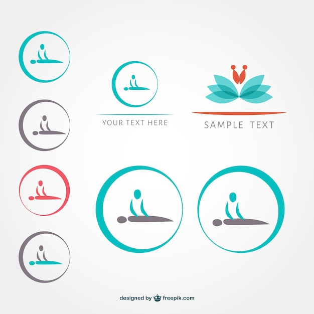 Massage symbols set