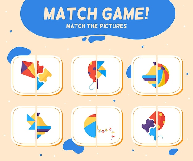 Match game for kids Free Vector