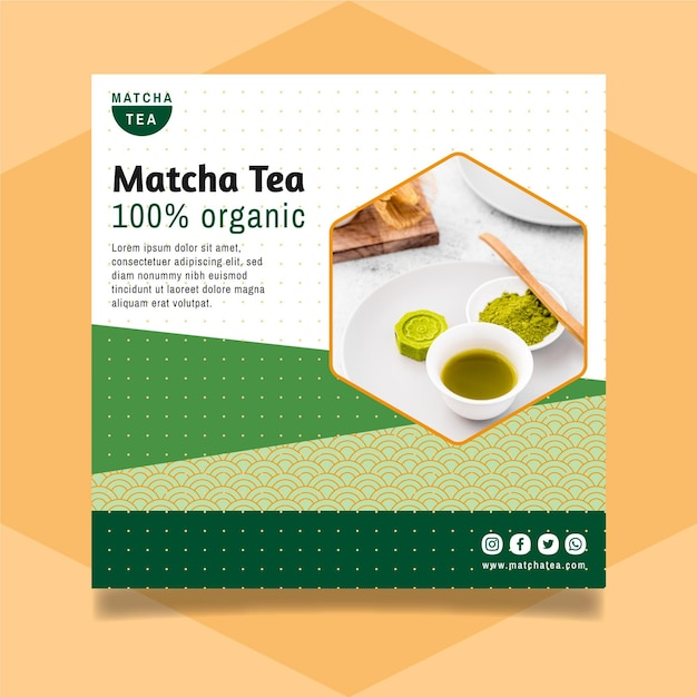 Matcha tea flyer template Free Vector