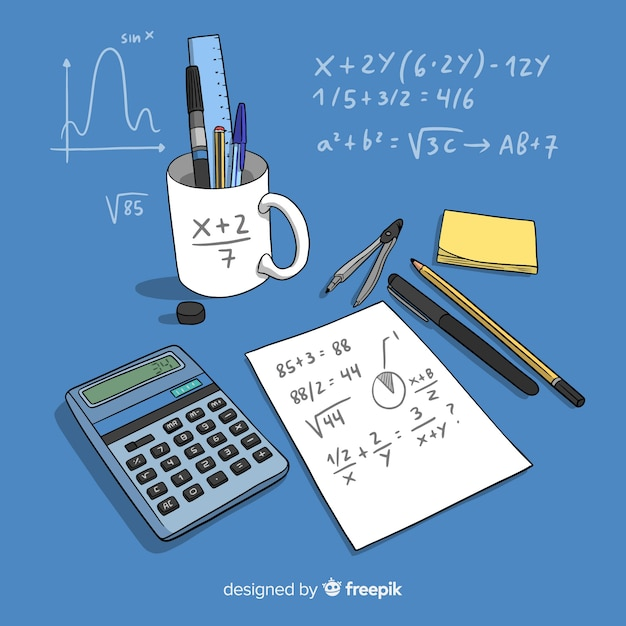 Math background Free Vector