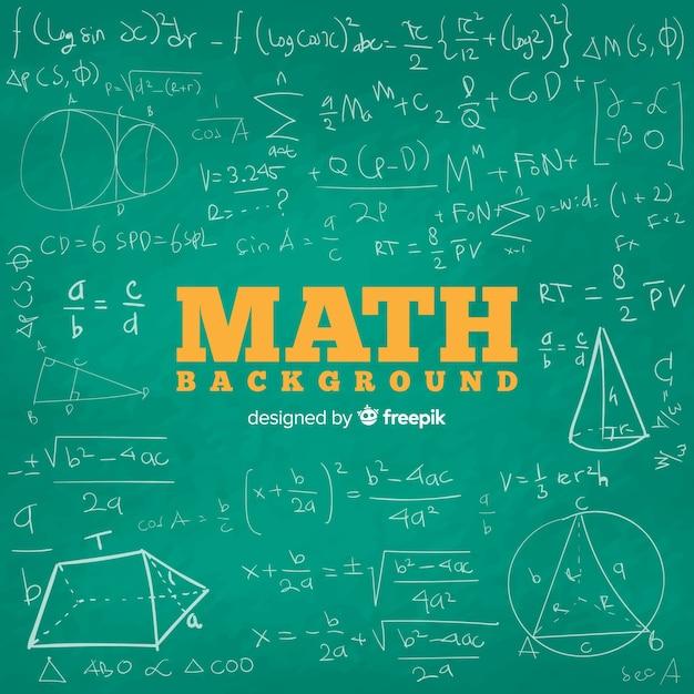 Math chalkboard background Free Vector