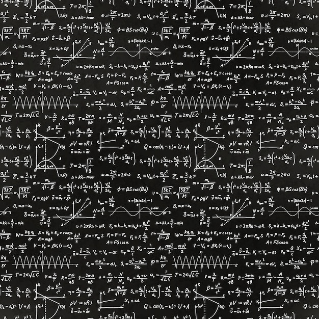 Math equations and formulas pattern Premium Vector