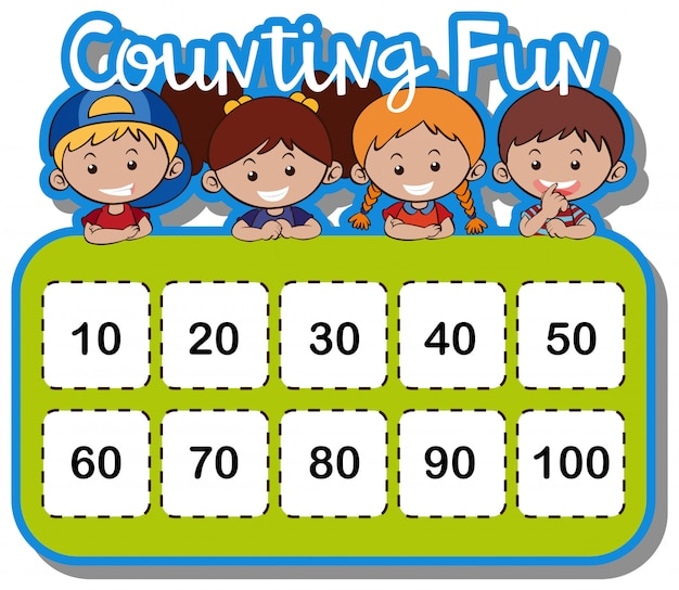 Math Worksheet For Counting Numbers Vector Premium Download