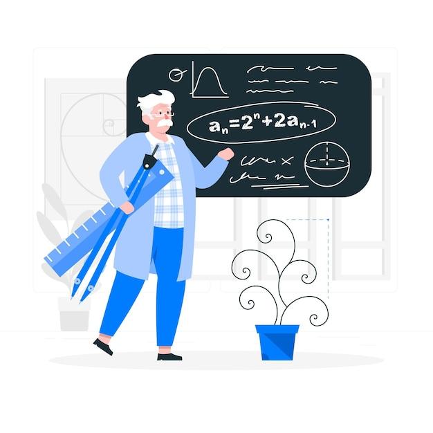 数学の概念図 無料ベクター
