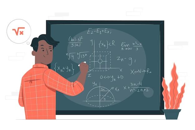 Иллюстрация концепции математики Бесплатные векторы