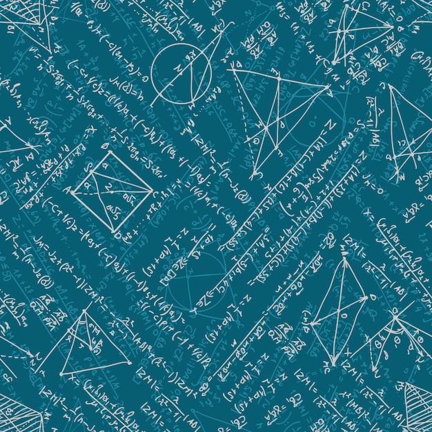 Mathematics seamless background. Premium Vector