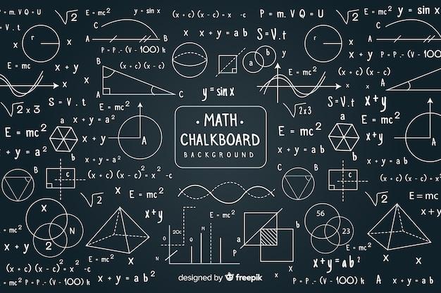 Maths chalkboard Free Vector