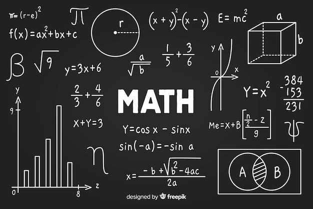 Free Vector | Maths chalkboard