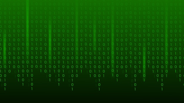 Matrix binary code green abstract technology background