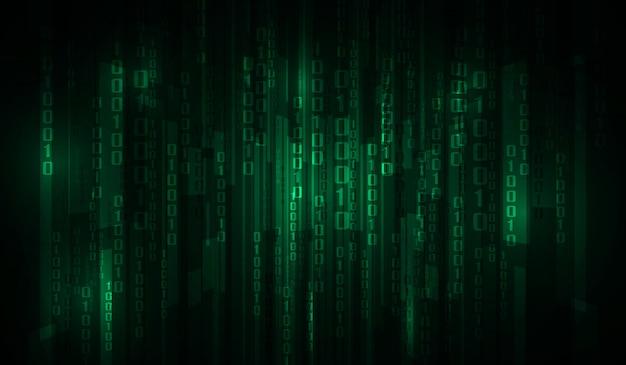 The matrix binary code Vector | Premium Download