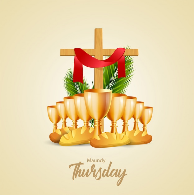 Maundy thursday vector illustration Premium Vector