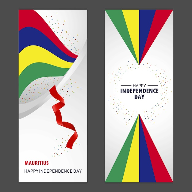 Mauritius Happy Independence Day Vector Free Download