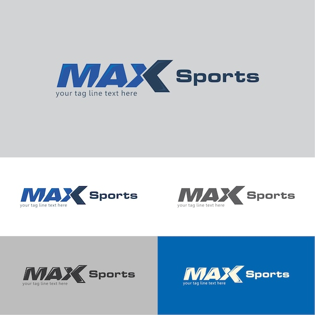 max sports app logo template vector premium download