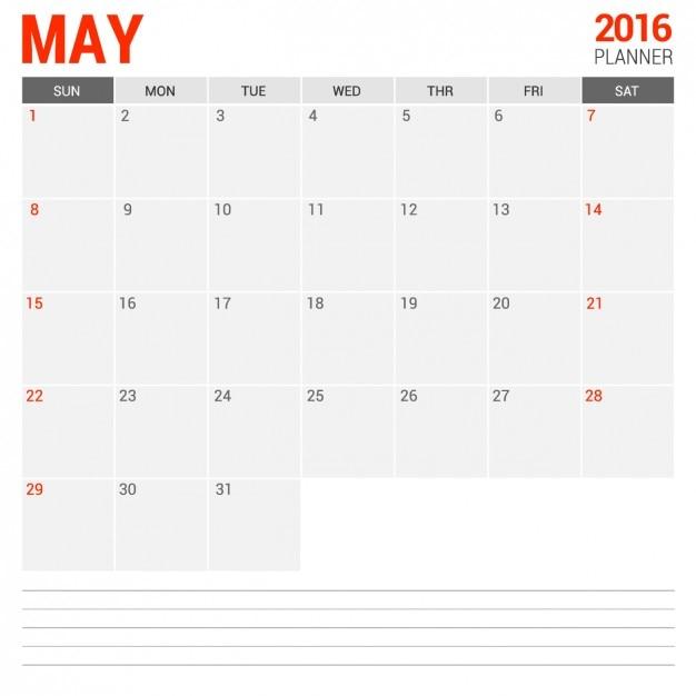 May Calendar Vector : May monthly calendar vector free download