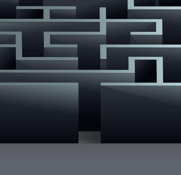 Maze 3d square Premium Vector