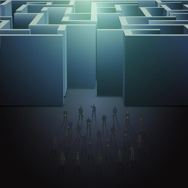 Maze business concept Premium Vector