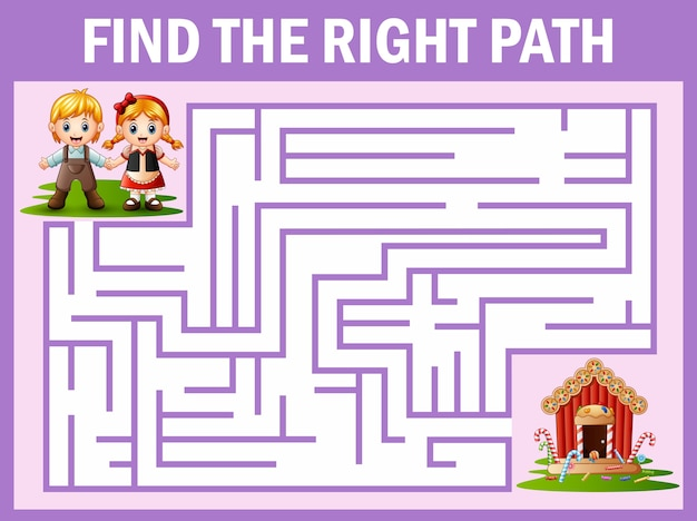Maze game finds the hansel and gretel way to candy house | Premium ...