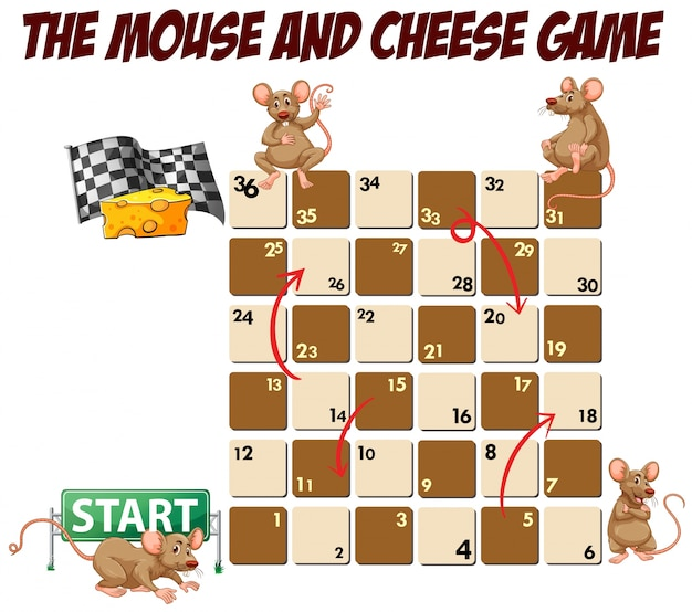 maze game with mouse and cheese vector premium download