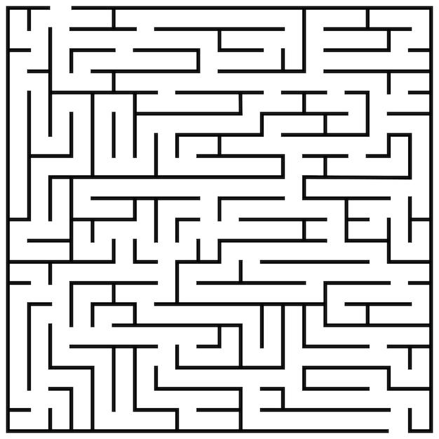 Maze puzzle Premium Vector