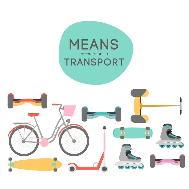 Means of transport background illustration with text area Free Vector