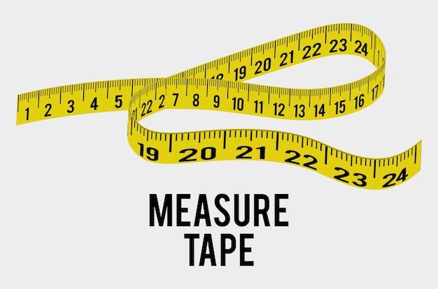 Measure tape and dieting Premium Vector