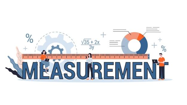 Measurement concept. idea of equipment for measuring. engineering area.   illustration in  style Premium Vector