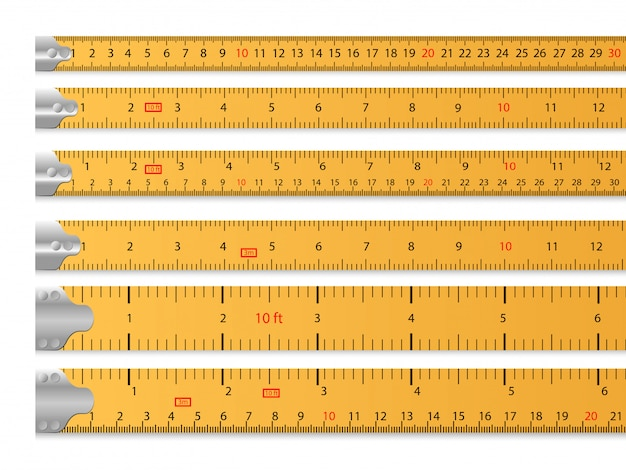 Measuring tape set Free Vector