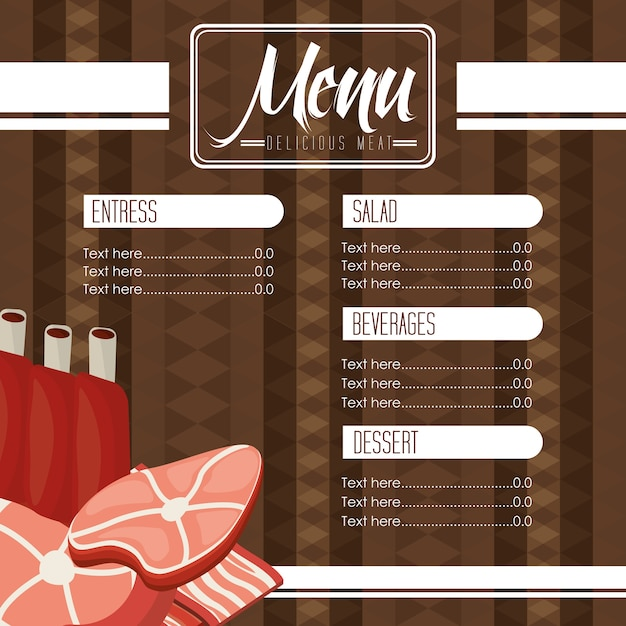 Meat menu Premium Vector